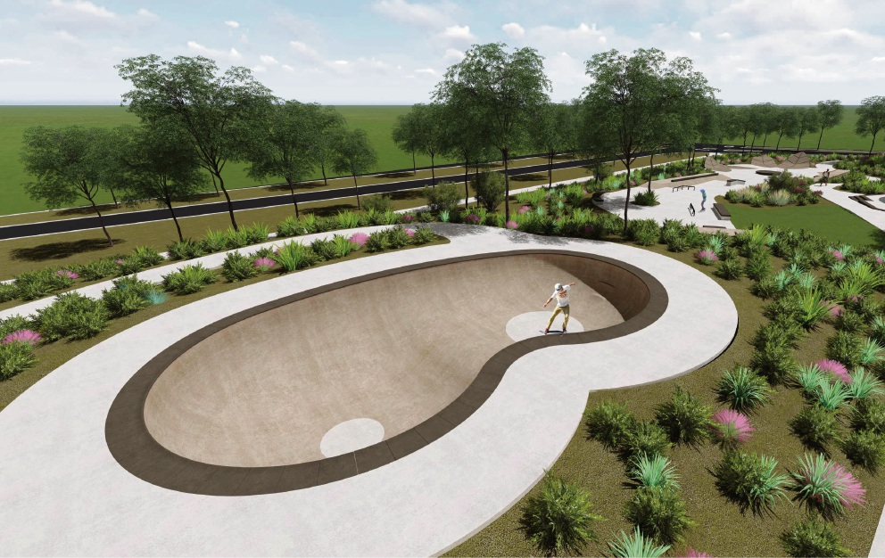 Concept design of the Banksia Grove skate park.