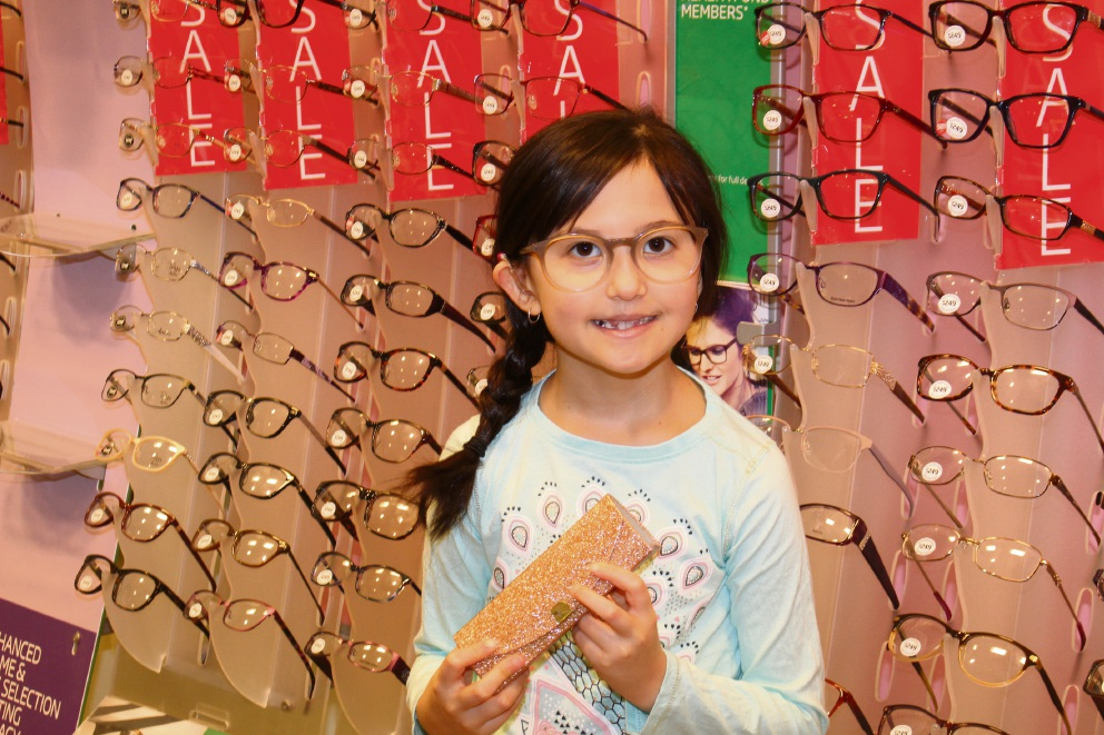 Amber Yoon was thrilled to receive her new glasses.