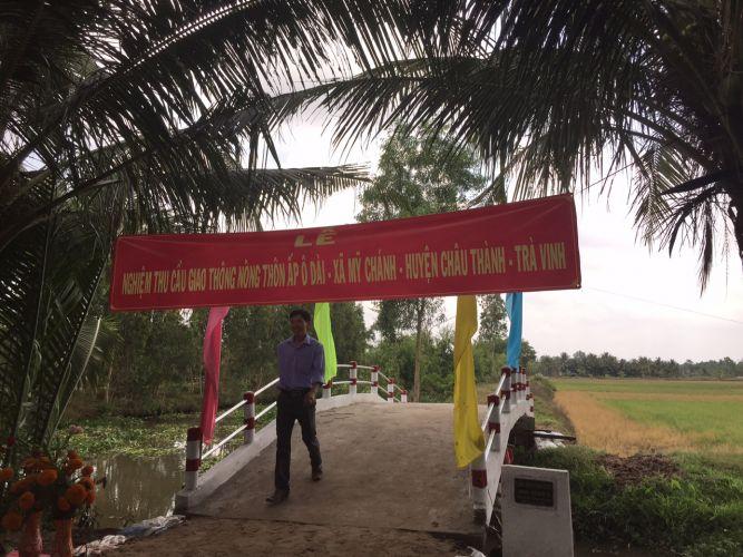 The new bridge in Western Vietnam.