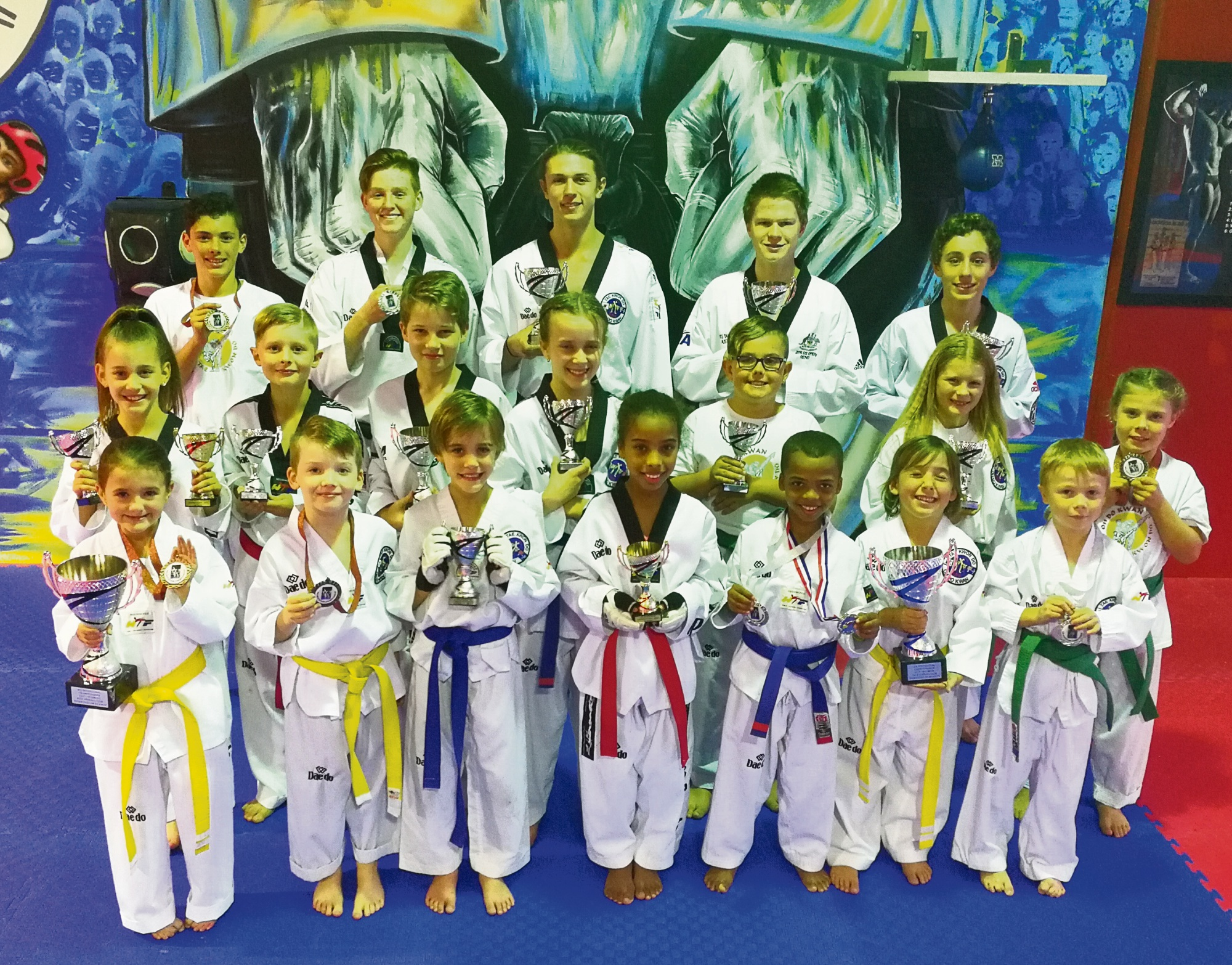 Port Kennedy Taekwondo Oh Do Kwan Club returns from WA Invitational with big medal haul