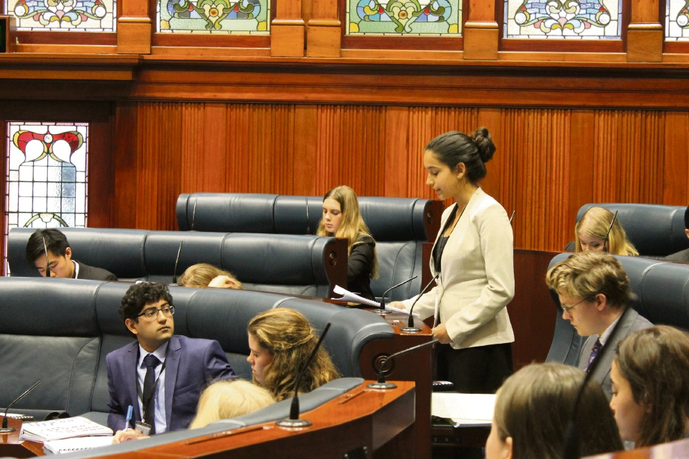 Ella Taylor in Parliament.