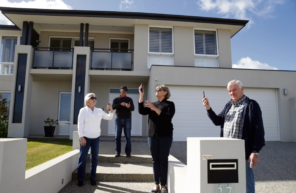 Yanchep residents Helen Stainthorpe, Allan Chapman, Lyn Chapman and Peter Stainthorpe have bemoaned their phone coverage. Picture: Martin Kennealey