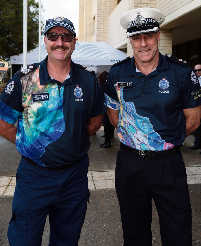 Senior Sergeant Steve Dawson (Joondalup) and Superintendant Paul Dallimore (North West Metropolitan District). Picture: Martin Kennealey d471182