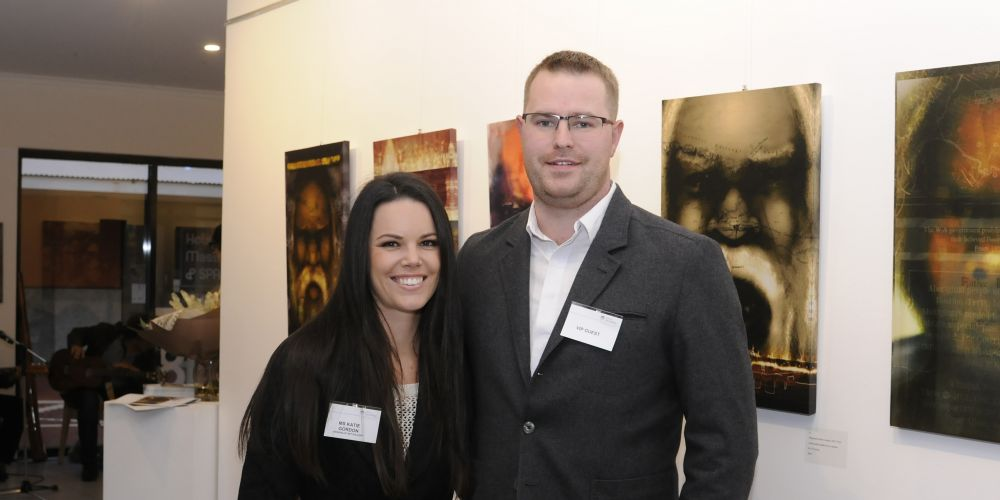 Katie Gordon and guest. Picture: Chris Kershaw