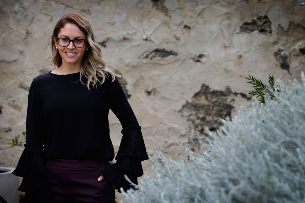 Nikki Gogan has moved to Freo from Northam to pursue her career in real estate at Caporn Young .Picture: Andrew Ritchie d471319