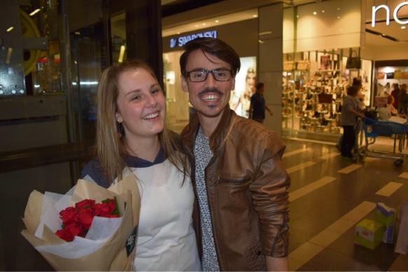 Libby Pretorius and Patrick Thomas happily engaged.