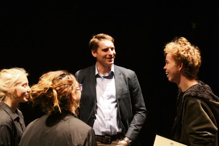 Canning MHR Andrew Hastie with Jade Chilcott, Paris Meeres and Caidan Doye.