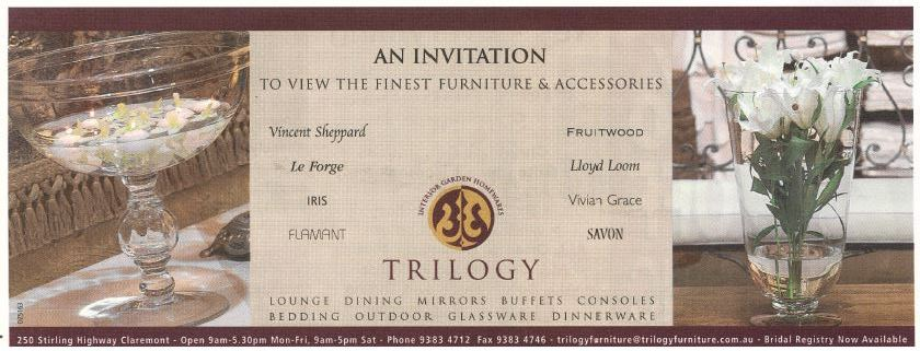 One of Trilogy's old ads in the Western Suburbs Weekly.