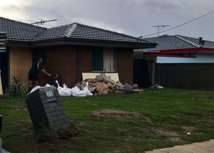 Damage to the Cooloongup home.