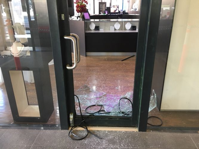 A jewellery store in Subiaco that was hit last month.