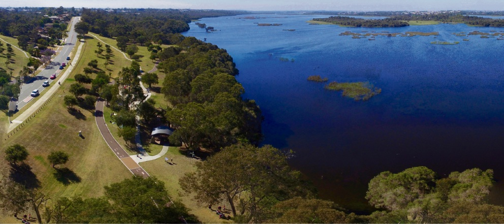 Aerial picture of Lake Joondalup. Pictures: Diana Champion