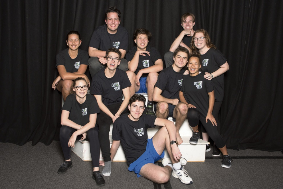 The Mazenod College cast of the Little Shop of Horrors.