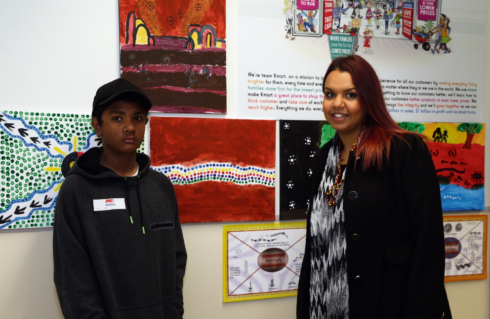 Nate Mitchell with teacher Shauna Narrier. Picture: Martin Kennealey