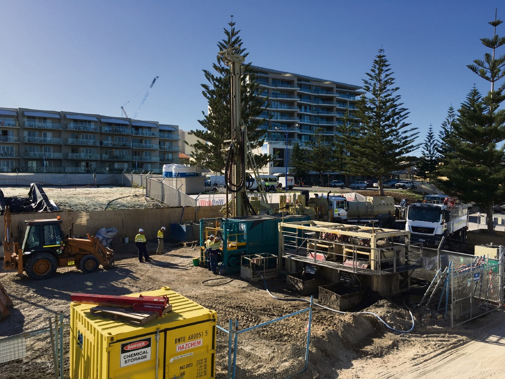 Ongoing works at Scarborough Beach Pool.