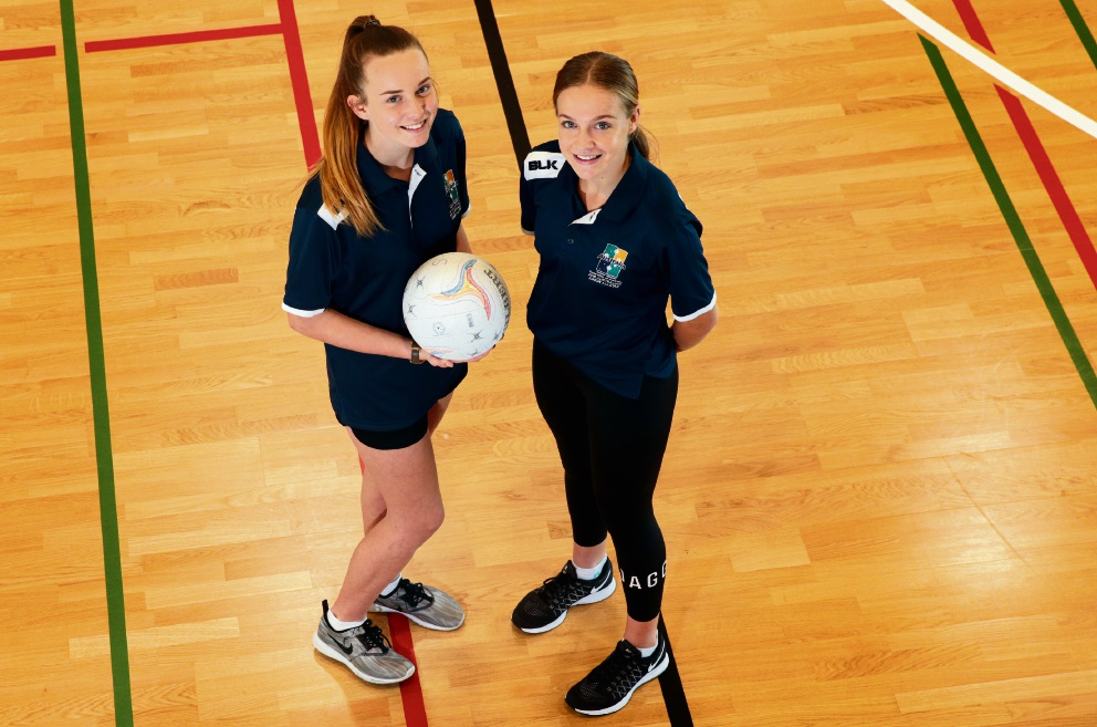 Maddie Hunter and Charley Rafferty were the only two netballers from WA selected for a world junior event. Picture: Martin Kennealey www.communitypix.com.au   d470703