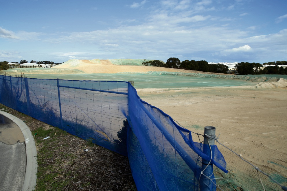 Capricorn Estate works at a future retail centre site. Picture: Martin Kennealey