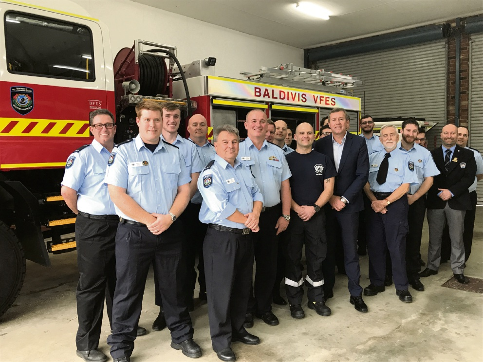 The Baldivis Volunteer Fire and Emergency service celebrated getting a new fire truck.