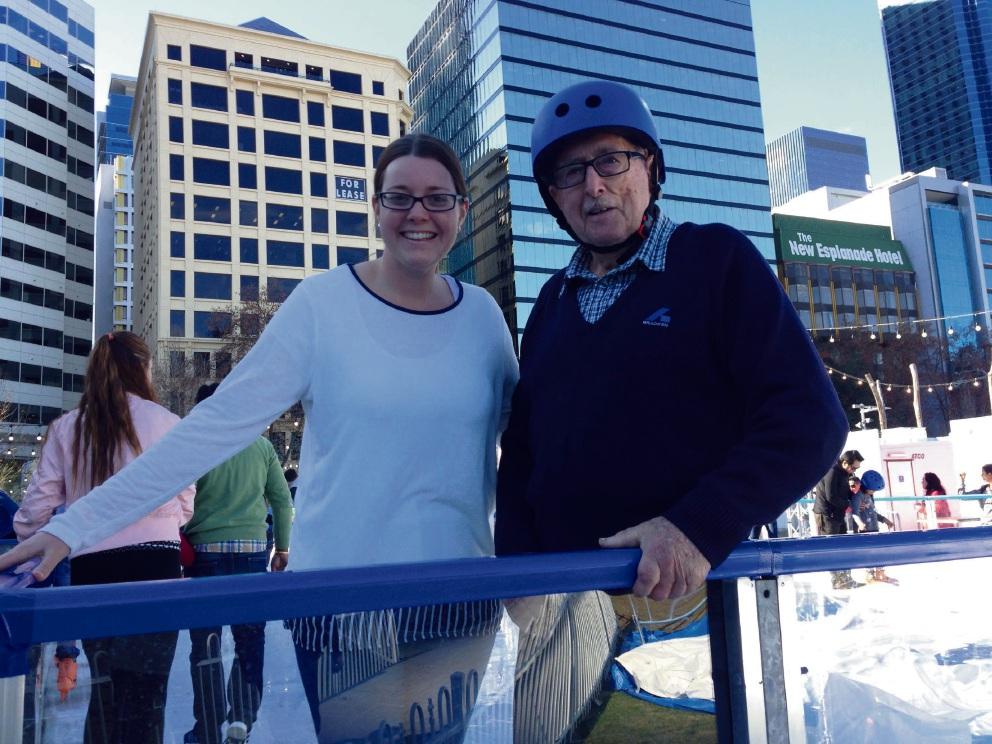 Ashby's John Ruddle with granddaughter Sarah Ruddle.