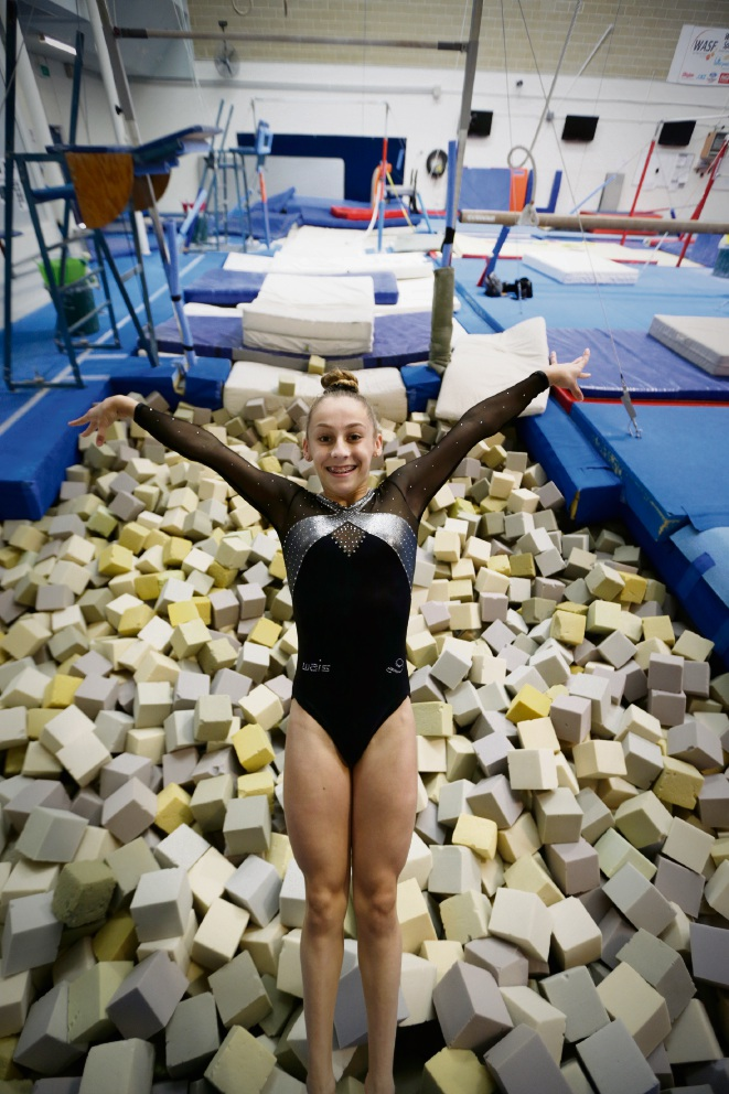 North Beach gymnast Clara Kolm. Picture: Andrew Ritchie d471434