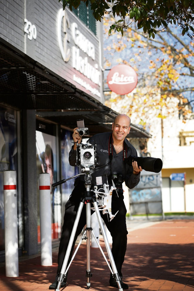 Saul Frank, from Camera Electronic, is gearing up for the PhotoLiveExpo. Picture: Andrew Ritchie
