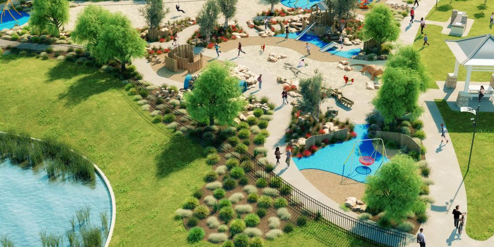 An artist's impression of the new park.