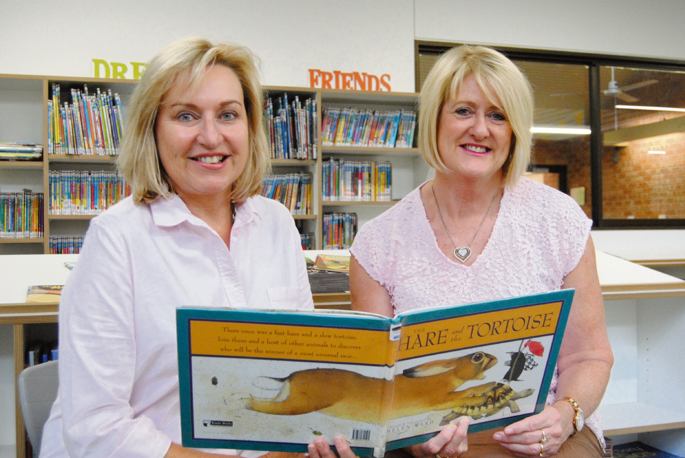 St Stephen's School head of library services Lise Legg and head of primary libraries Jo-Anne Urquhart.