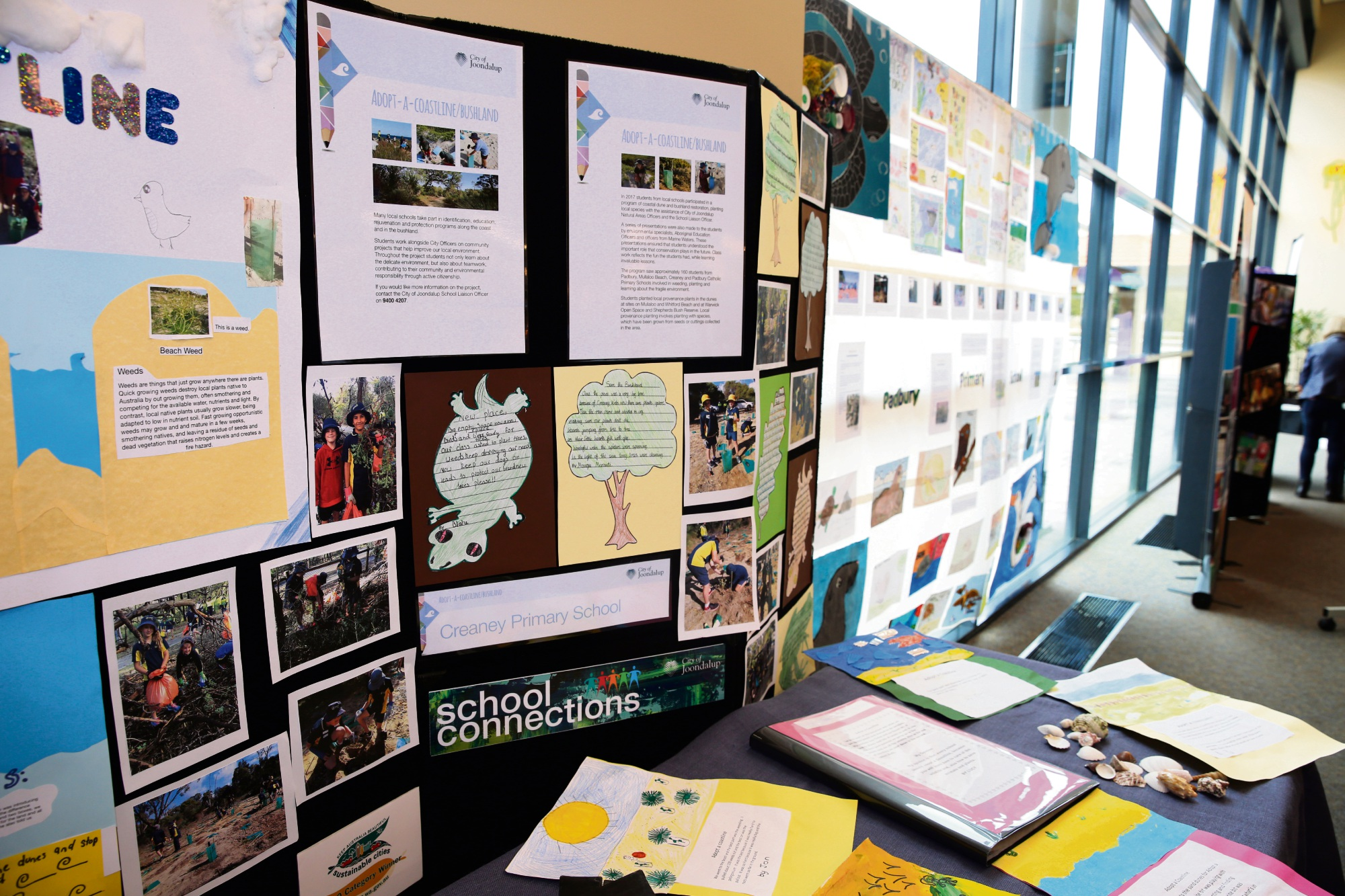 The Adopt a Coastline exhibition at Joondalup Library.