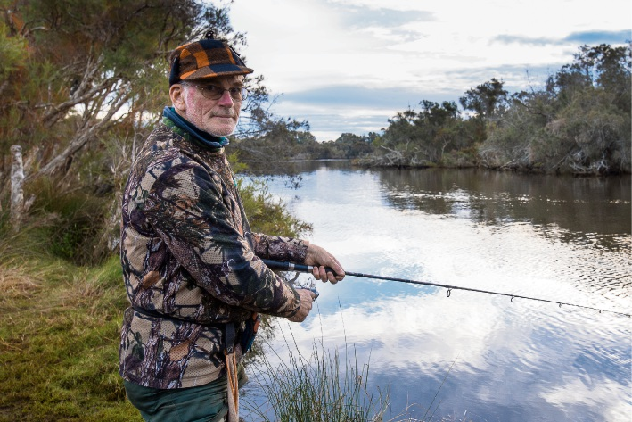 Ferndale resident Ian Vaughan is concerned about overfishing in the Canning River. Picture: Emma Geary