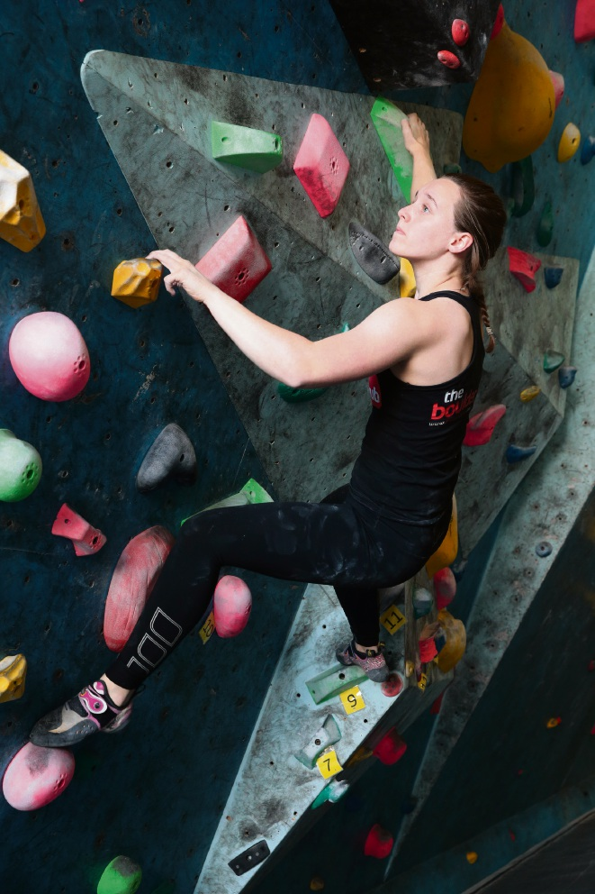 Professional climber Lilly Magditsch. Picture: Martin Kennealeyd470843
