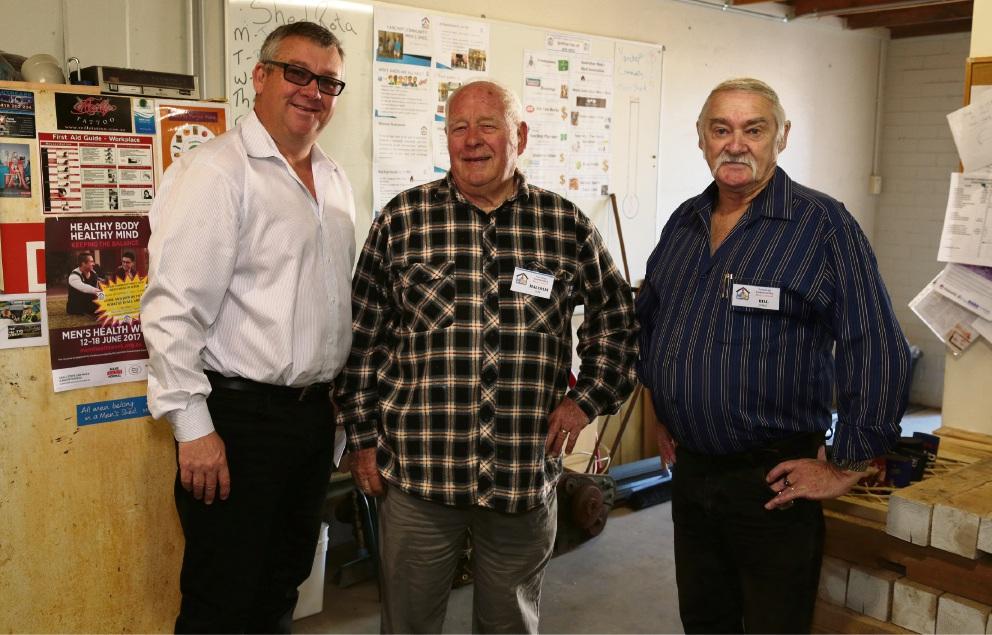 Yanchep Beach Joint Venture's Jon Kelly with Malcolm Gow and Bill Jones.
