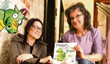 Baldivis author Monique Mulligan and Warnbro illustrator Veronica Rooke. Picture: Neil Mulligan