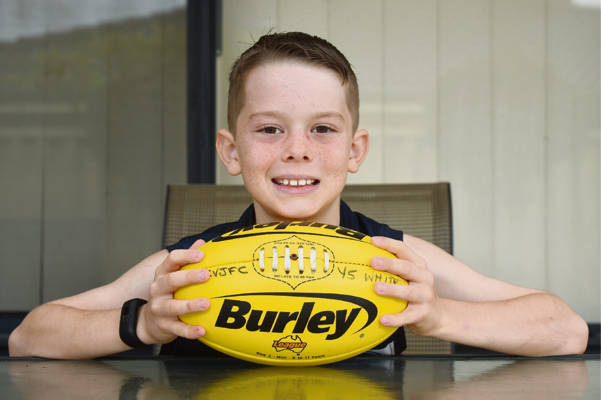 Canning Vale's Kaydn obsessed with footy, dreams of playing for Cats