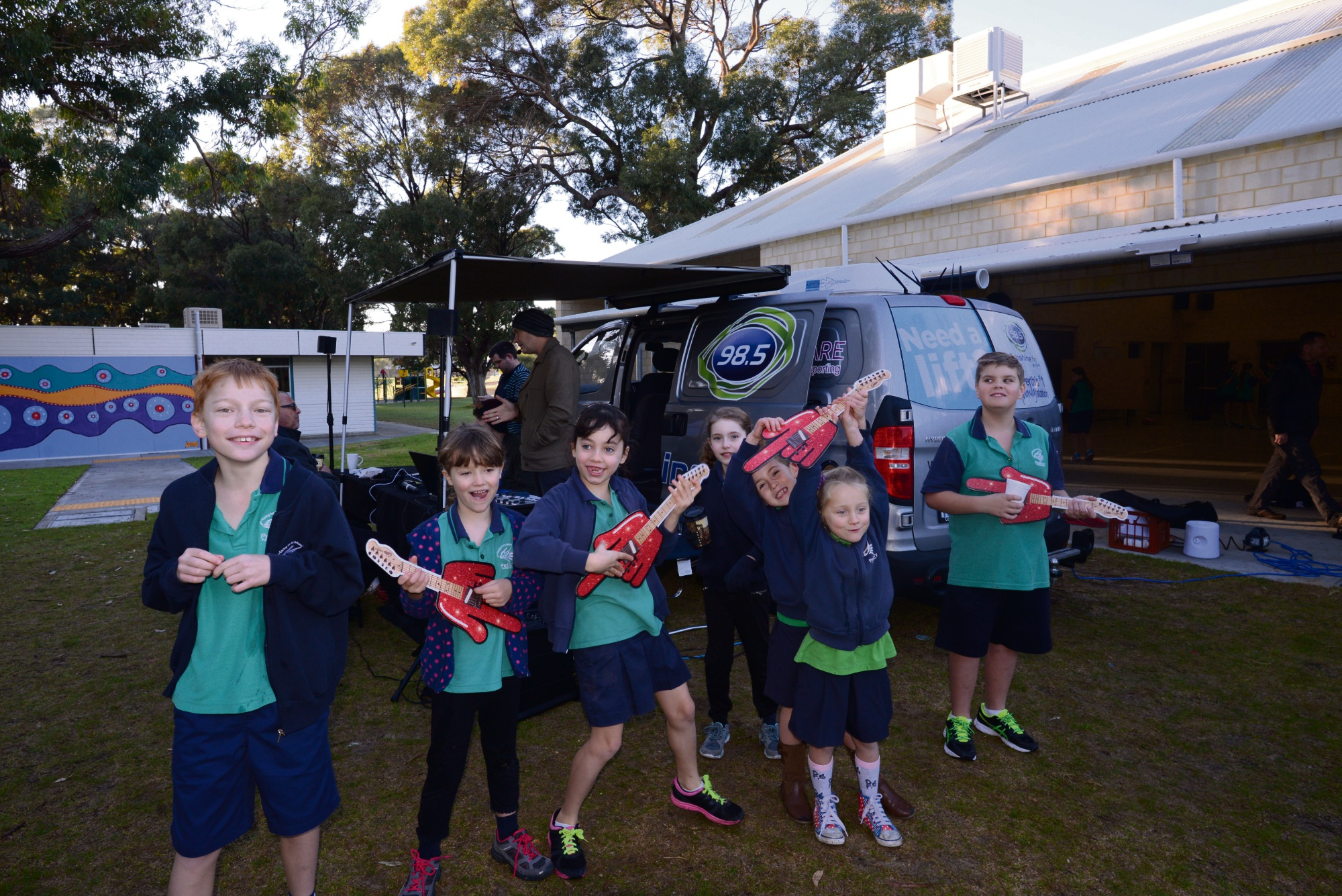 Padbury Primary School students having fun at Free Coffee Friday.