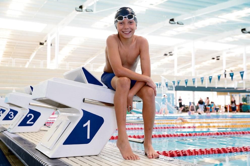 Talented young swimmer Jackson Anderson (10), of Two Rocks, has set his sights on representing Australia at the Olympic Games when he is older. Picture: Martin Kennealey                                d469794