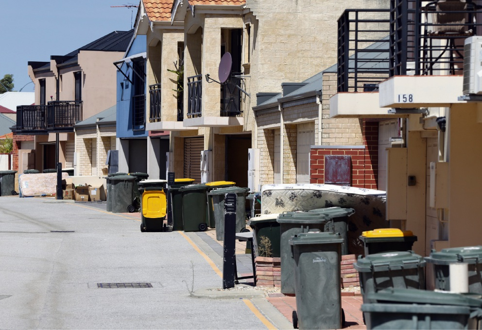 Bulk rubbish collection in Joondalup before the changes came in to effect. Picture: Martin Kennealey d451220