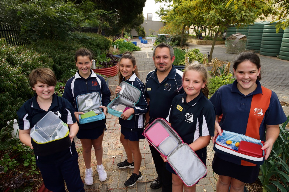 Hocking Primary School Year 6 students Jacob Glass, Chelsea Richards, Indiana Albrecht, teacher Toni Bakreski, Chloe Fevre and Makenzie Ryniker.  Picture: Martin Kennealey