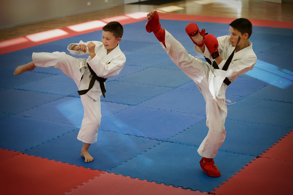 Rocco Fowler and Benjamin Quinn have been selected to represent WA at the national karate championships in Sydney. Picture: Andrew Ritchie d471691