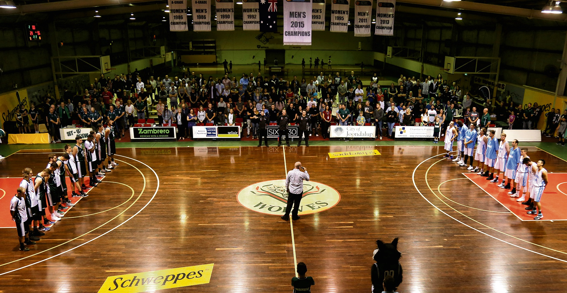 Joondalup Basketball Stadium on game night. Picture: Michael Farnell, sportsimagery.com.au
