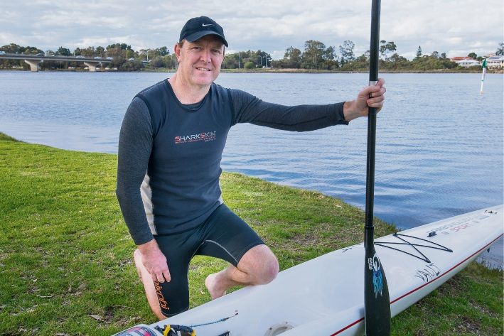 Wilson resident Simon O'Sullivan says he has long been fascinated with the Avon Descent.