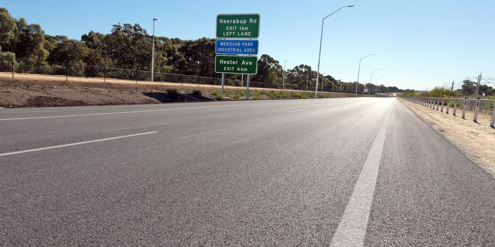 There will be a ribbon cutting ceremony for the Mitchell Freeway extension on Thursday, but motorists will have a longer wait. Picture: Martin Kennealey