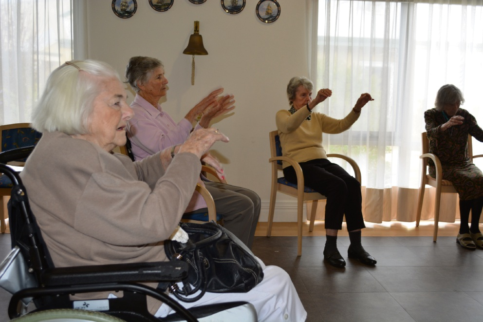 Residents enjoying the activity at the centre.