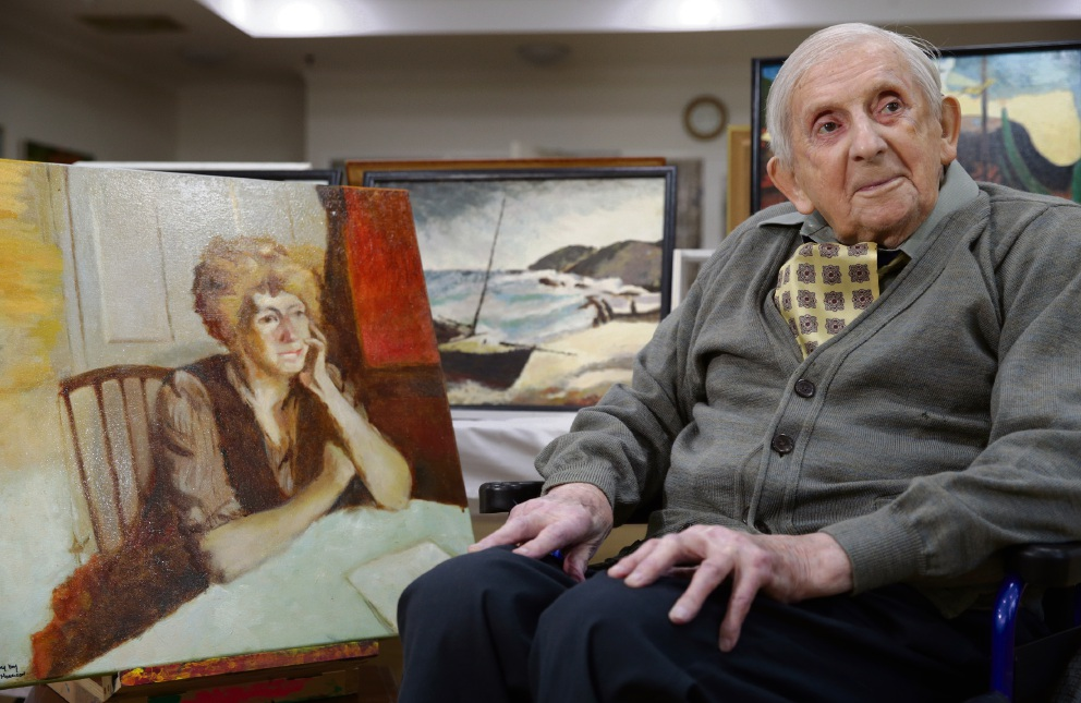 Art for the ages: Salter Point painter William Morrison has held his first exhibition at the age of 91.