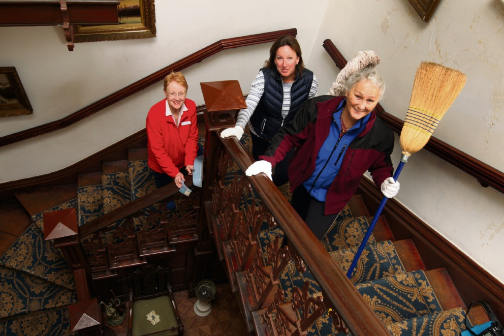 Woodbridge House is spruced up and ready to be opened again thanks to the work of volunteers who gave it a thorough spring cleaning.