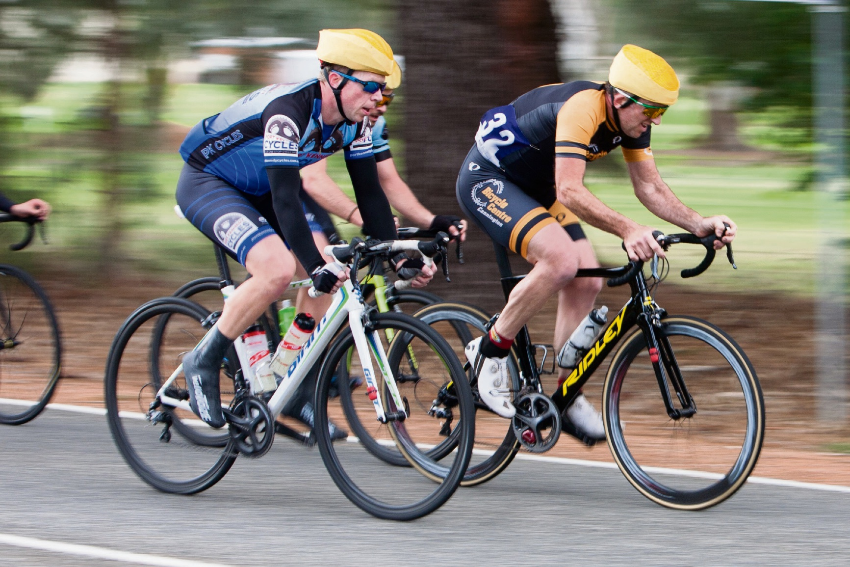The B-grade break group worked hard to extend their lead at Serpentine. Picture: Nick Cowie