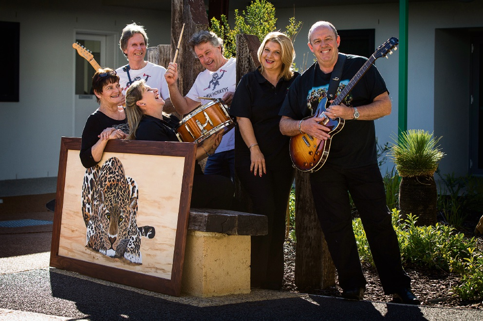 Wendy Fox, Greg Rowlands, Janine Wood, Brad Devine, Adele Grobbelaar and Chris Walsh get in the swing for Music, Song and Dance. Picture: Will Russell d471935
