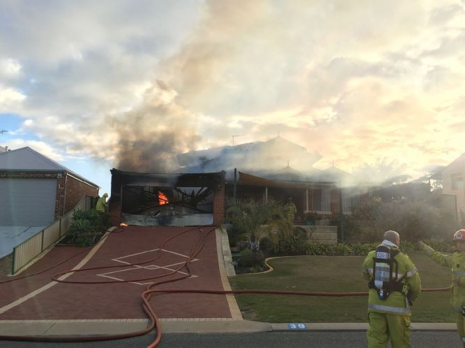 Car fire engulfs Golden Bay home