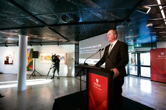Deputy Prime Minister Barnaby Joyce was at Murdoch University Tuesday morning to make the announcement.