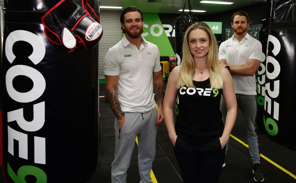 Core values: Gym owners Daniel Moynihan and Daniel Swingler with Lucy Simpson. Picture: Martin Kennealey d472131