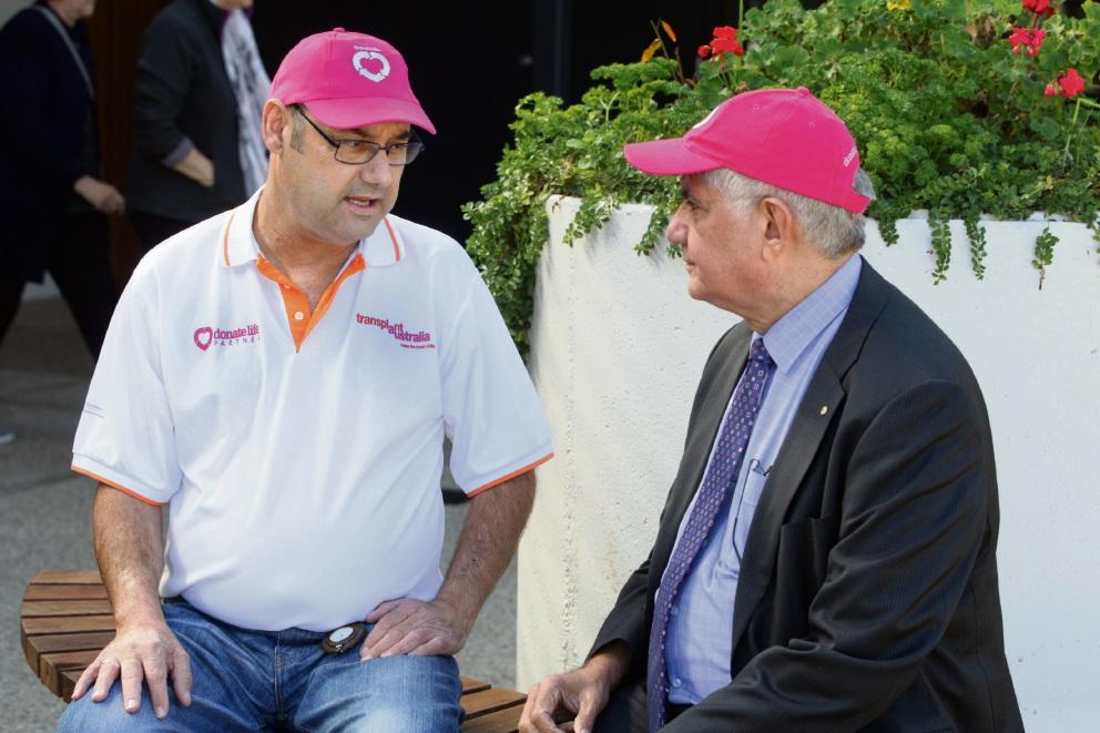 Heart transplant patient Norm Rudd with Ken Wyatt