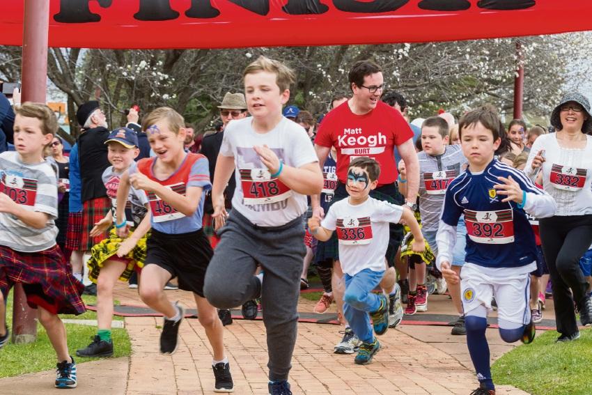 Last year's Perth Kilt Run festivities